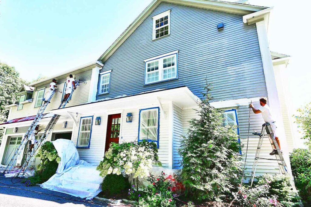 picture of a house painters Wellesley MA