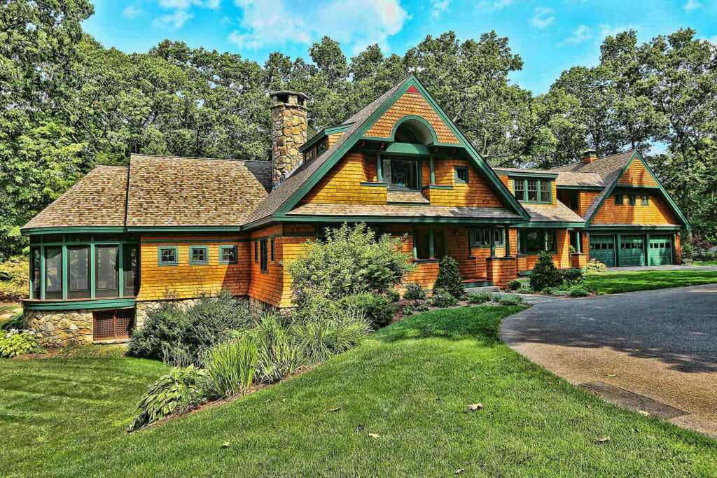 picture of a house we painted Weston MA
